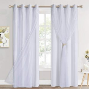 WHITE BLACKOUT CURTAINS buy