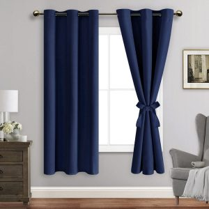 ROSETTE Blackout Curtains with Tiebacks