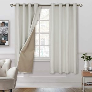 BGment 100% Blackout Curtains with Liner for Bedroom