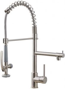 Fapully Dual Spout (best industrial kitchen sink faucet)